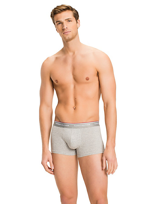 TOMMY HILFIGER Set van 3 low rise katoenen boxershorts - BLACK / WHITE / GREY HEATHER - TOMMY HILFIGER 3-pack - detail image 1