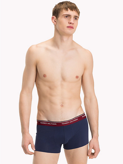 TOMMY HILFIGER 3-Pack Low Rise Trunks - POMEGRANATE/PEACOAT/BLACK - TOMMY HILFIGER Packs - detail image 1