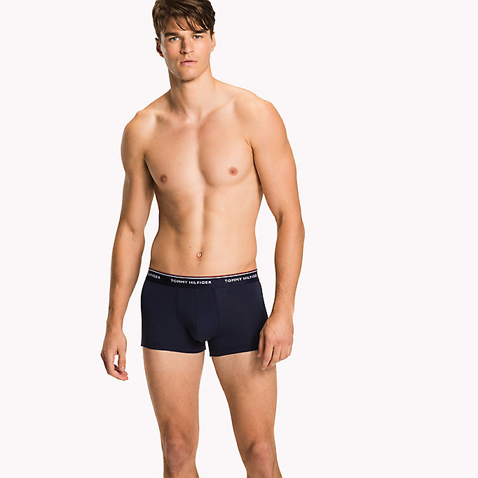 TOMMY HILFIGER 3-Pack Low-Rise Cotton Trunks - BLACK - TOMMY HILFIGER Men - detail image 2
