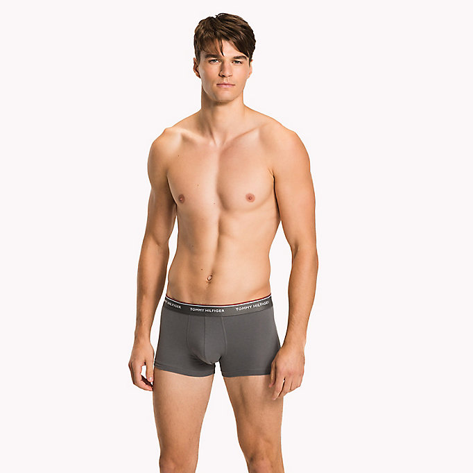 TOMMY HILFIGER 3-Pack Low-Rise Cotton Trunks - BLACK - TOMMY HILFIGER Men - detail image 3