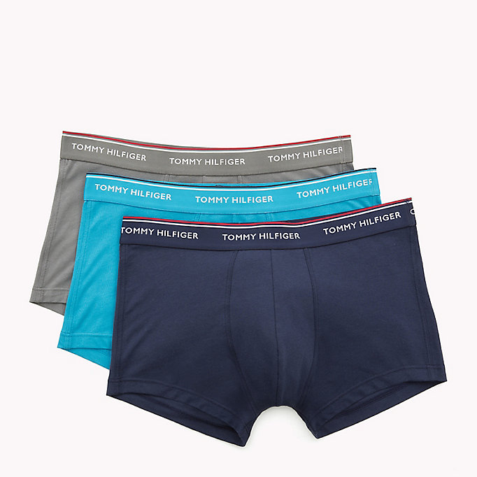 TOMMY HILFIGER 3-Pack Low-Rise Cotton Trunks - BLACK - TOMMY HILFIGER Men - detail image 4