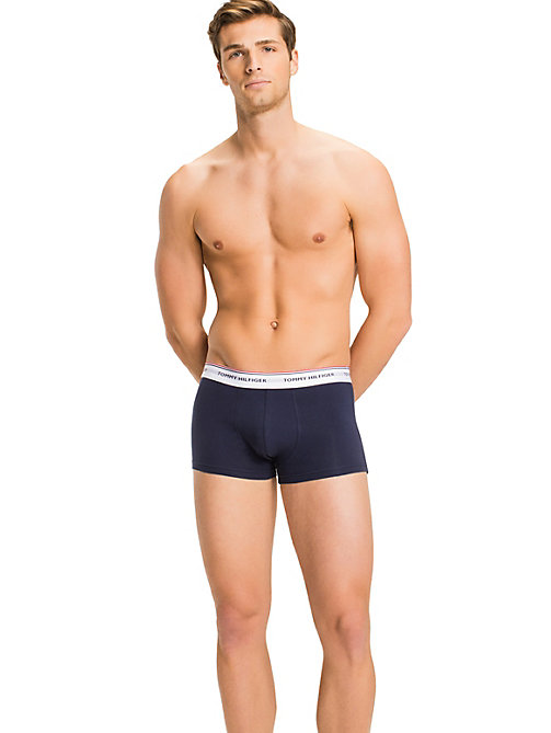 TOMMY HILFIGER 3-Pack Low-Rise Cotton Trunks - MULTI / PEACOAT - TOMMY HILFIGER 3-pack - detail image 1