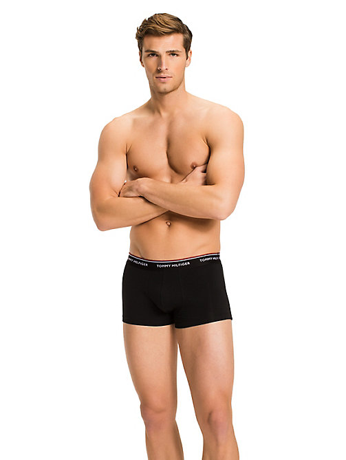 TOMMY HILFIGER 3-Pack Low-Rise Cotton Trunks - BLACK - TOMMY HILFIGER Three Packs - detail image 1