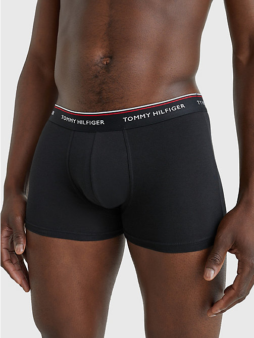TOMMY HILFIGER 3-Pack Cotton Trunks - BLACK / GREY HEATHER / WHITE - TOMMY HILFIGER Three Packs - detail image 1