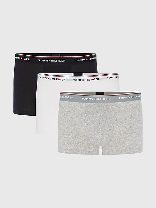 TOMMY HILFIGER 3-Pack Cotton Trunks - BLACK / GREY HEATHER / WHITE - TOMMY HILFIGER Three Packs - main image