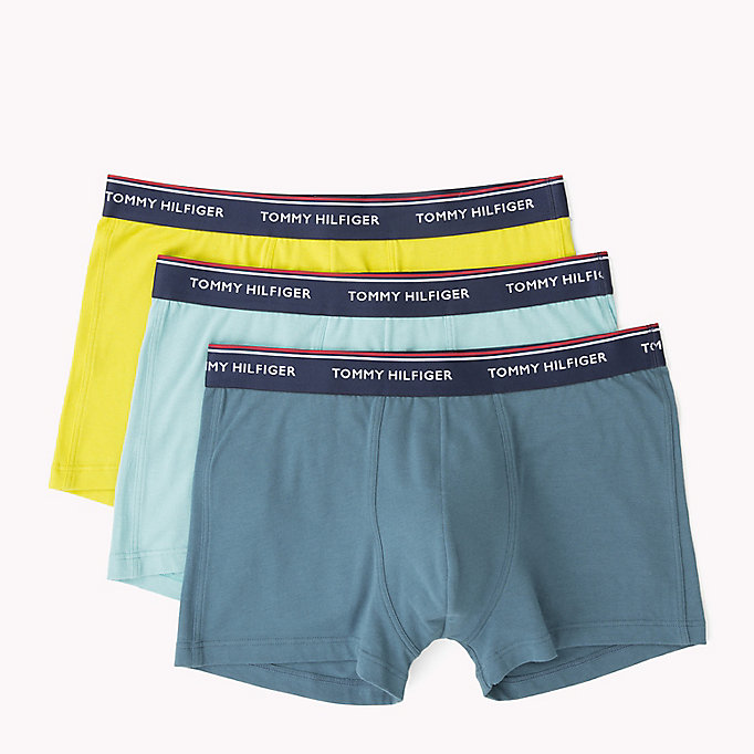 TOMMY HILFIGER 3-Pack Cotton Trunks - WHITE/ TANGO RED/ PEACOAT - TOMMY HILFIGER Men - detail image 4