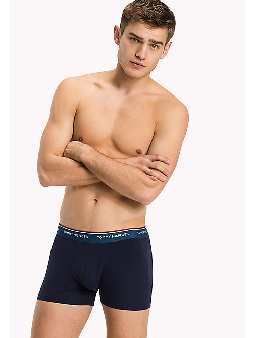 TOMMY HILFIGER 3-Pack Cotton Trunks - BALTIC/BLUE ASHES/SCOOTER(PEACOAT BODY) -  Three Packs - main image