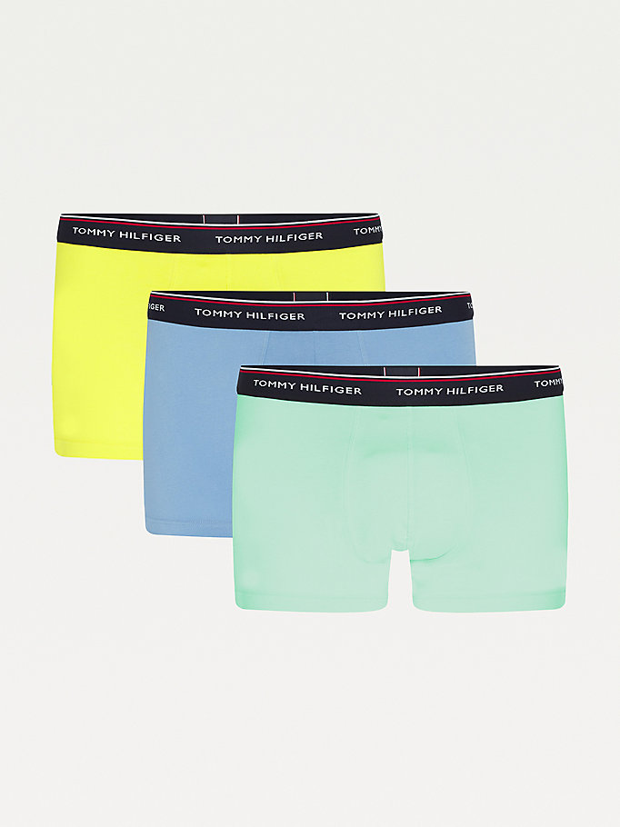 3 pack boxer briefs in cotone stretch giallo da uomo tommy hilfiger