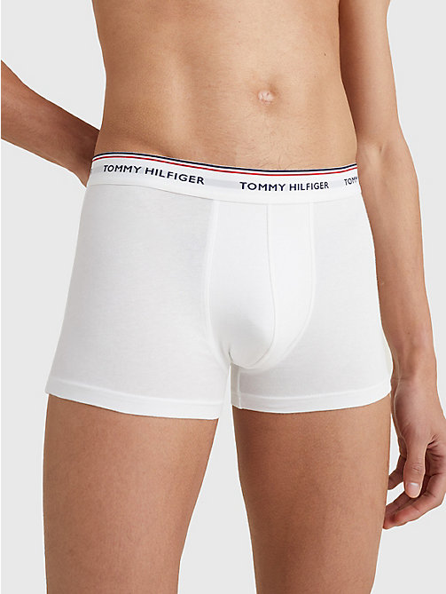 TOMMY HILFIGER 3-Pack Cotton Trunks - WHITE - TOMMY HILFIGER Three Packs - detail image 1