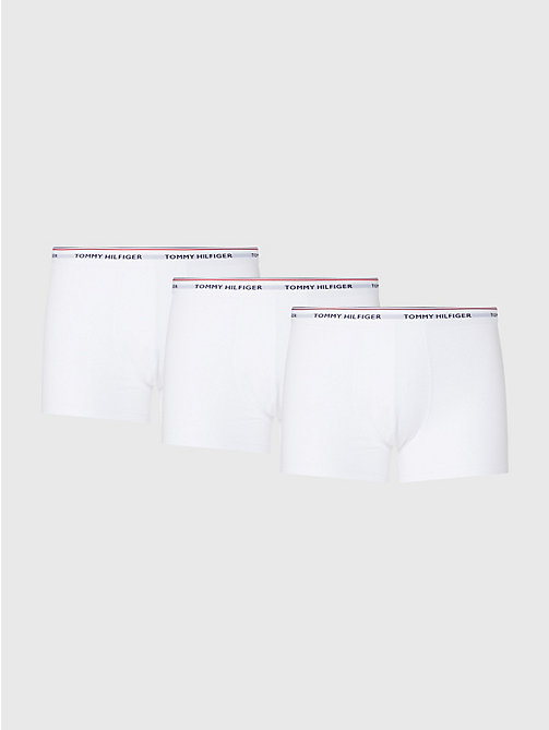 TOMMY HILFIGER 3-Pack Cotton Trunks - WHITE - TOMMY HILFIGER Three Packs - main image