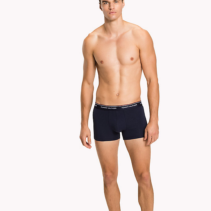 TOMMY HILFIGER 3-Pack Cotton Trunks - INDIAN TEAL/STILLWATER/WARM OLIVE - TOMMY HILFIGER Men - main image