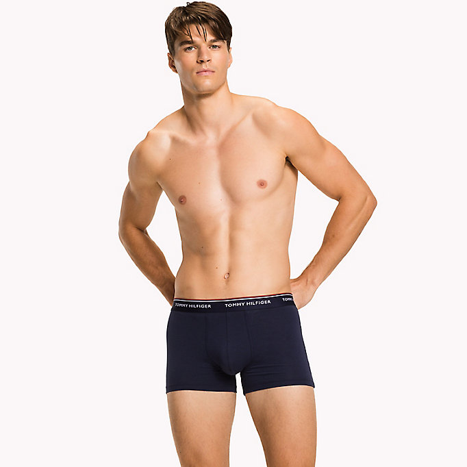 TOMMY HILFIGER 3-Pack Cotton Trunks - CELESTIAL BLUE-PT / FRENCH BLUE-PT / CIT - TOMMY HILFIGER Men - detail image 3