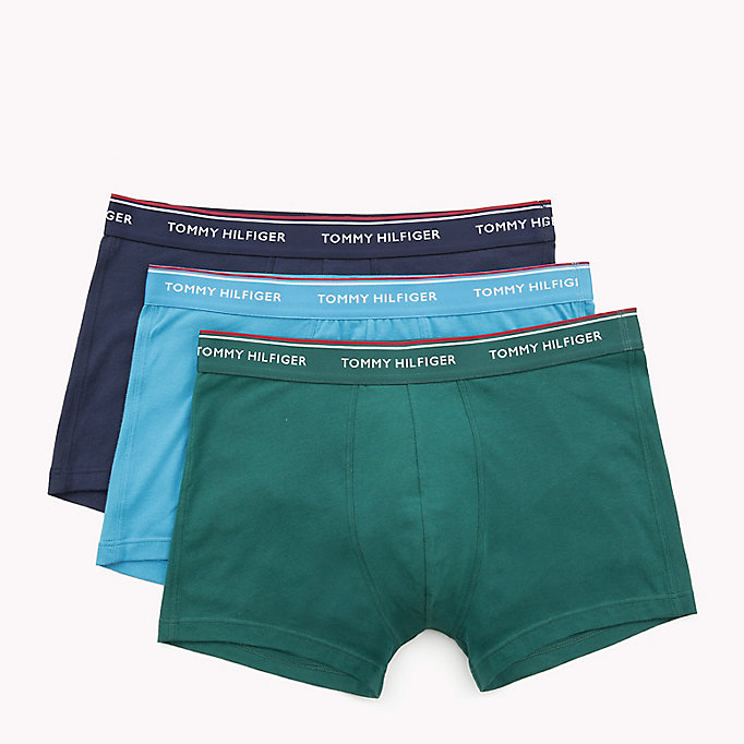 TOMMY HILFIGER 3-Pack Cotton Trunks - CELESTIAL BLUE-PT / FRENCH BLUE-PT / CIT - TOMMY HILFIGER Men - detail image 4