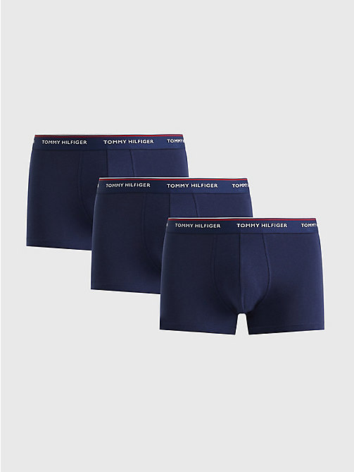 TOMMY HILFIGER 3-Pack Cotton Trunks - PEACOAT-PT - TOMMY HILFIGER 3-pack - main image
