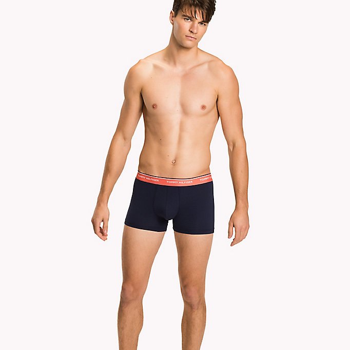 TOMMY HILFIGER 3-Pack Cotton Trunks - MULTI / PEACOAT - TOMMY HILFIGER Men - main image