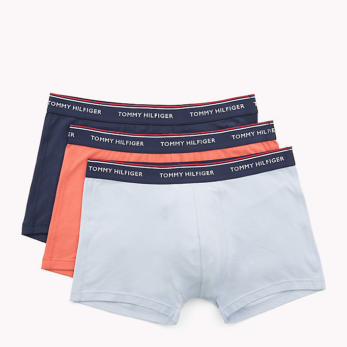 TOMMY HILFIGER 3-Pack Cotton Trunks - BLACK / GREY HEATHER / WHITE - TOMMY HILFIGER Men - detail image 4