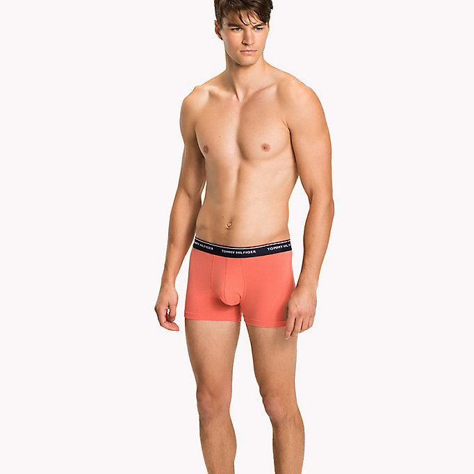 TOMMY HILFIGER 3-Pack Cotton Trunks - BLACK / GREY HEATHER / WHITE - TOMMY HILFIGER Men - main image