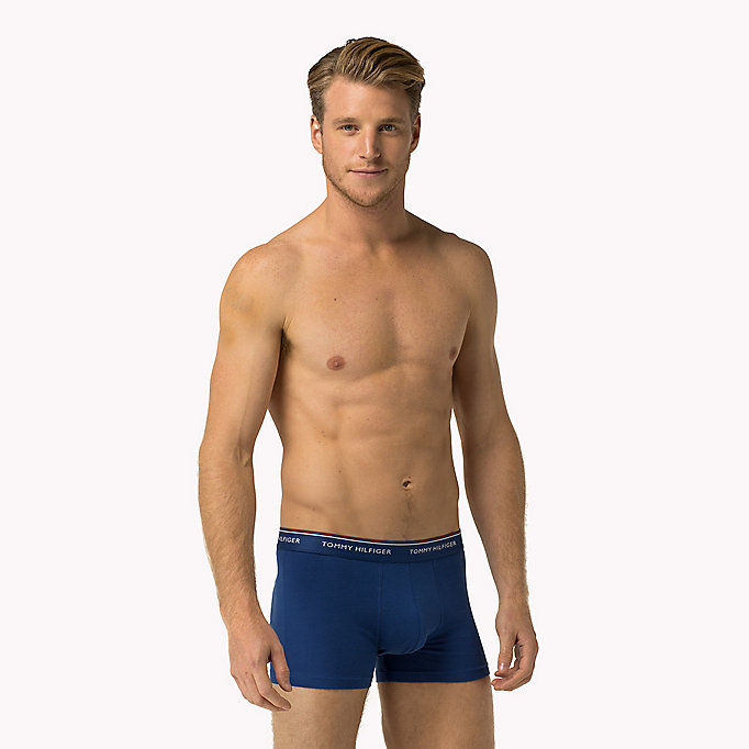 TOMMY HILFIGER 3-Pack Cotton Trunks - BLACK - TOMMY HILFIGER Men - detail image 2
