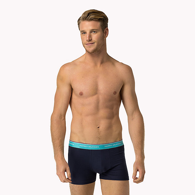 TOMMY HILFIGER 3-Pack Cotton Trunks - ANEMONE/BAYBERRY/PEACOAT - TOMMY HILFIGER Men - detail image 4
