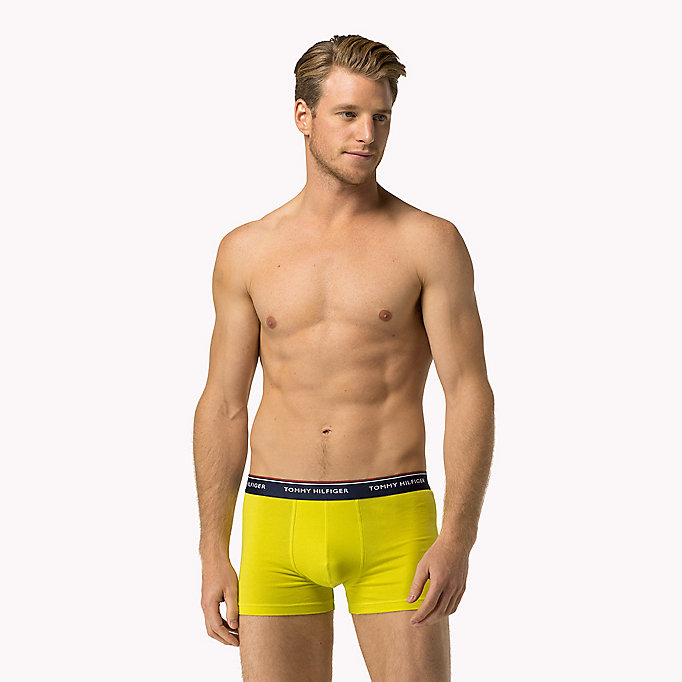 TOMMY HILFIGER 3-Pack Cotton Trunks - DEEP SEA CORAL/CHAMBRAY BUE/PEACOAT(PEAC - TOMMY HILFIGER Men - detail image 4