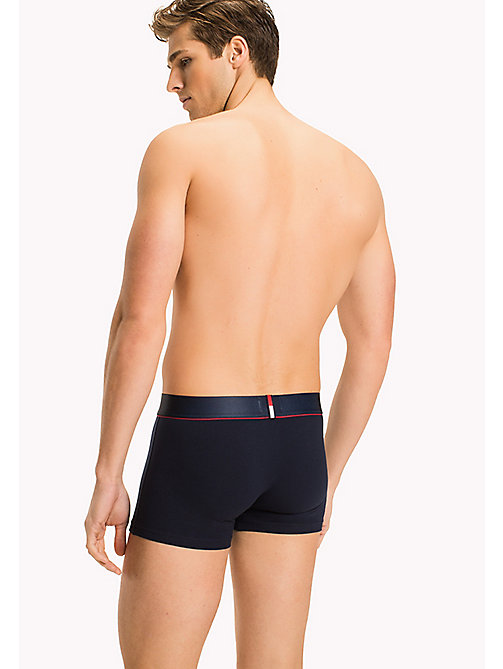 TOMMY HILFIGER Cotton Stretch Trunks - NAVY BLAZER-PT - TOMMY HILFIGER Underwear - detail image 1