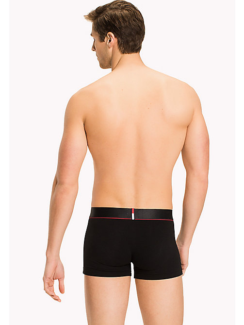 TOMMY HILFIGER Cotton Stretch Trunks - BLACK - TOMMY HILFIGER Underwear - detail image 1