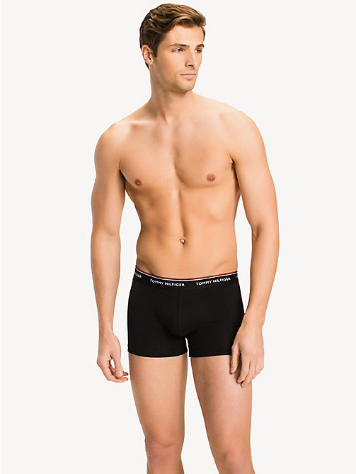 TOMMY HILFIGER 3 Pack Cotton Boxer Shorts - BLACK - TOMMY HILFIGER Big & Tall - detail image 1