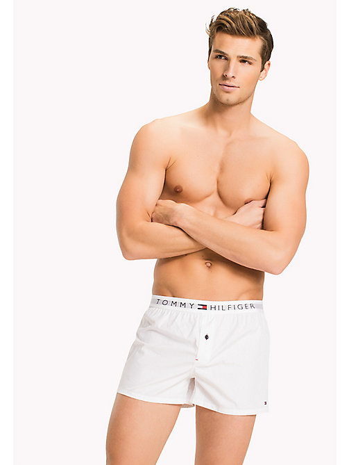 TOMMY HILFIGER Cotton Branded Boxer Shorts - WHITE - TOMMY HILFIGER Clothing - main image