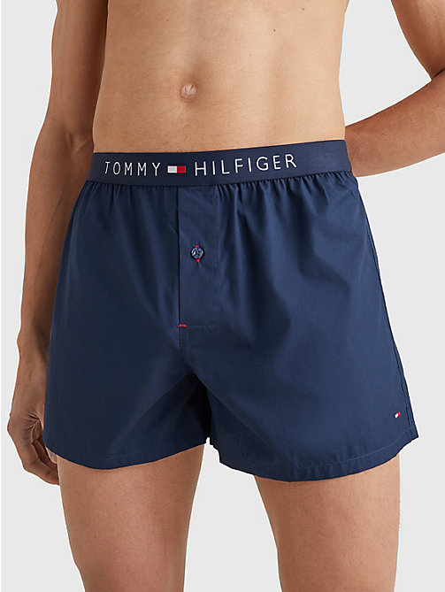 TOMMY HILFIGER Boxer shorts in popeline di cotone - NAVY BLAZER-PT - TOMMY HILFIGER Boxer - immagine principale