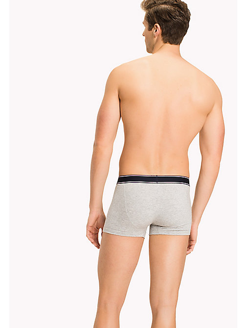 TOMMY HILFIGER Cotton Trunks - GREY HEATHER- EUR - TOMMY HILFIGER Trunks - detail image 1