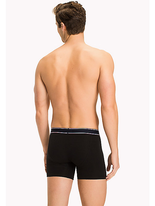 TOMMY HILFIGER Cotton Boxer Briefs - BLACK - TOMMY HILFIGER Clothing - detail image 1