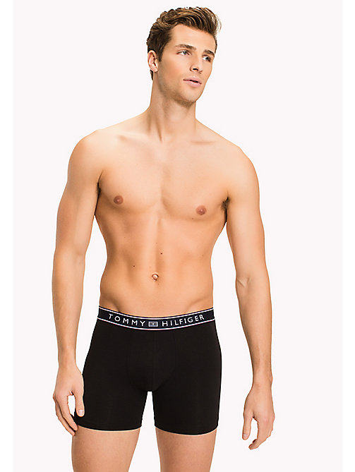 TOMMY HILFIGER Cotton Boxer Briefs - BLACK - TOMMY HILFIGER Clothing - main image
