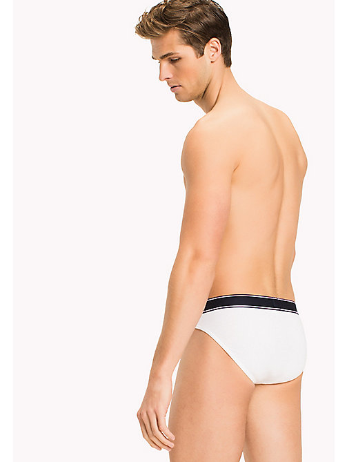 TOMMY HILFIGER Cotton Briefs - WHITE - TOMMY HILFIGER Briefs - detail image 1