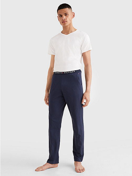 TOMMY HILFIGER 3 Pack V-Neck Cotton T-Shirts - WHITE - TOMMY HILFIGER Pyjama Tops - detail image 1
