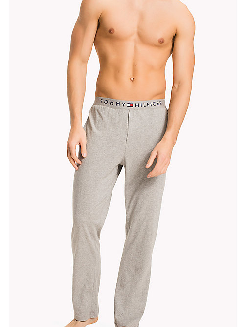 TOMMY HILFIGER Icon Trousers - GREY HEATHER - TOMMY HILFIGER Lounge & Nightwear - main image