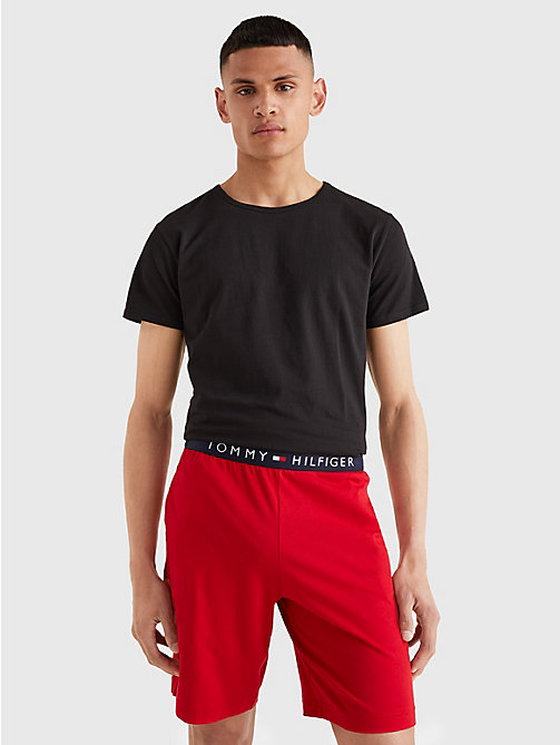 TOMMY HILFIGER 3 Pack Essential Cotton T-Shirts - BLACK / GREY HEATHER BC05 / WHITE - TOMMY HILFIGER Lounge & Nightwear - detail image 1