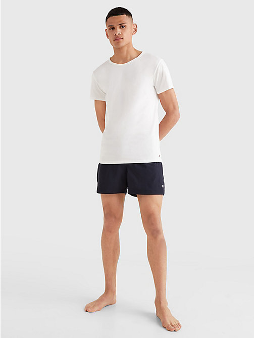 TOMMY HILFIGER 3 Pack Essential Cotton T-Shirts - WHITE - TOMMY HILFIGER Pyjama Tops - detail image 1