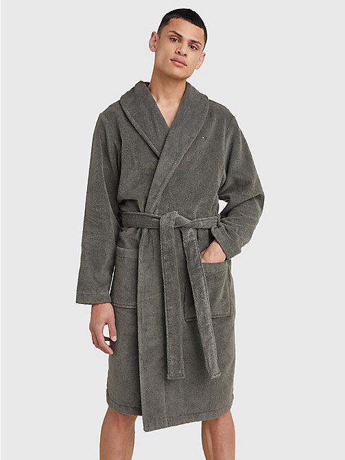 TOMMY HILFIGER Cotton Towelling Bathrobe - MAGNET - TOMMY HILFIGER Lounge & Nightwear - main image
