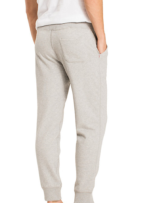TOMMY HILFIGER Tapered Elastic Waist Joggers - GREY HEATHER BC05 - TOMMY HILFIGER Pyjama Bottoms - detail image 1