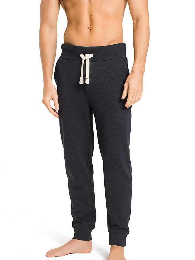 TOMMY HILFIGER Tapered Elastic Waist Joggers - MARINA HEATHER - TOMMY HILFIGER Men - main image