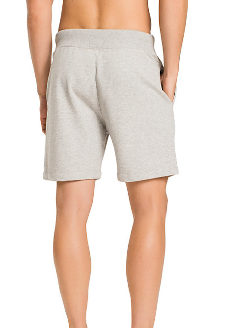 TOMMY HILFIGER Stretch Cotton Shorts - GREY HEATHER BC05 - TOMMY HILFIGER Lounge & Nightwear - detail image 1