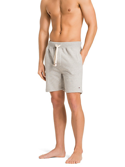 TOMMY HILFIGER Stretch Cotton Shorts - GREY HEATHER BC05 - TOMMY HILFIGER Lounge & Nightwear - main image
