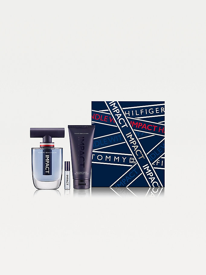 set regalo natalizio fragranze th impact multicolore da uomo tommy hilfiger