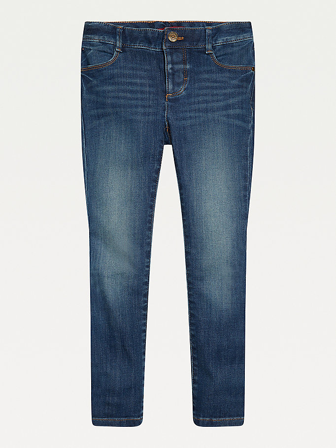 blue adaptive skinny jeans for girls tommy hilfiger