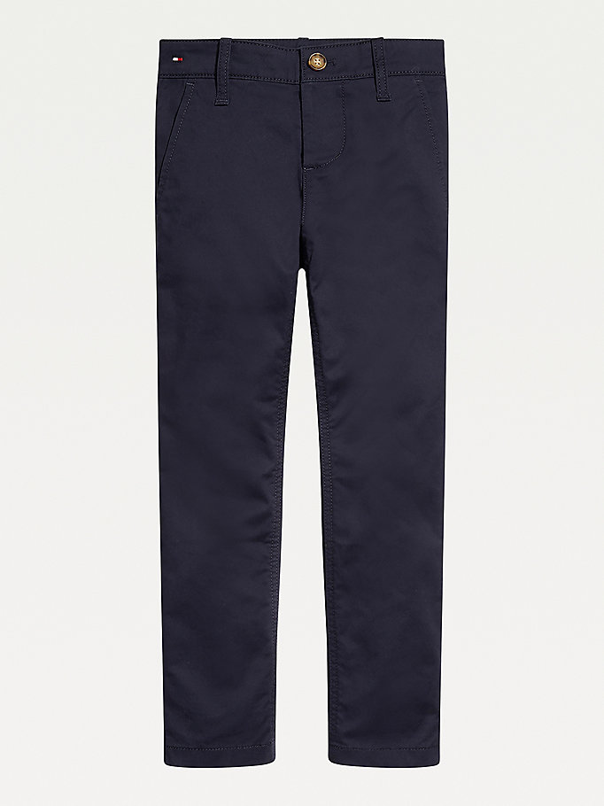 blue adaptive stretch chinos for boys tommy hilfiger