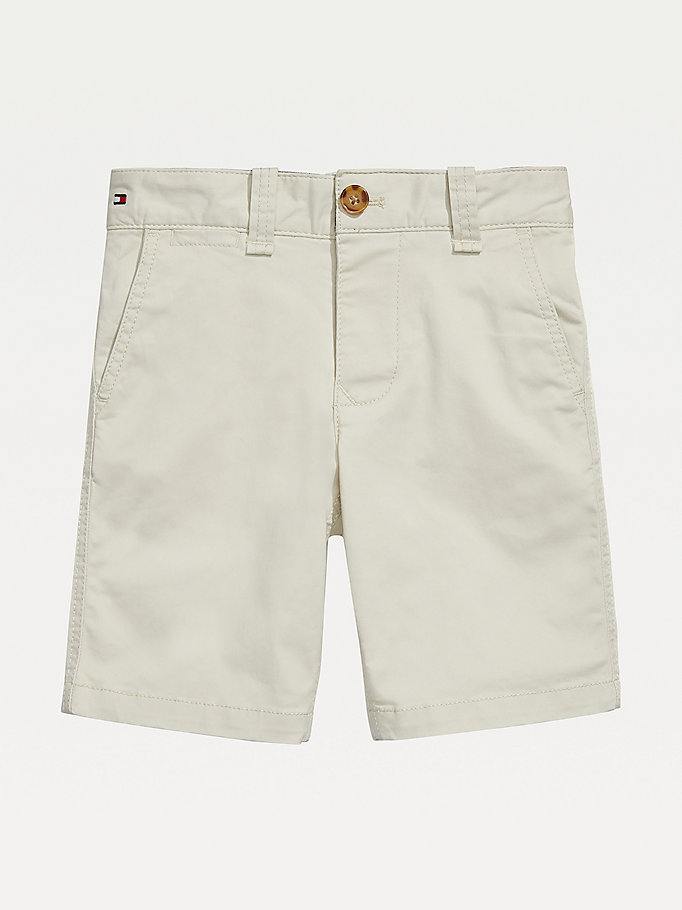brown adaptive stretch cotton adjustable waist shorts for boys tommy hilfiger