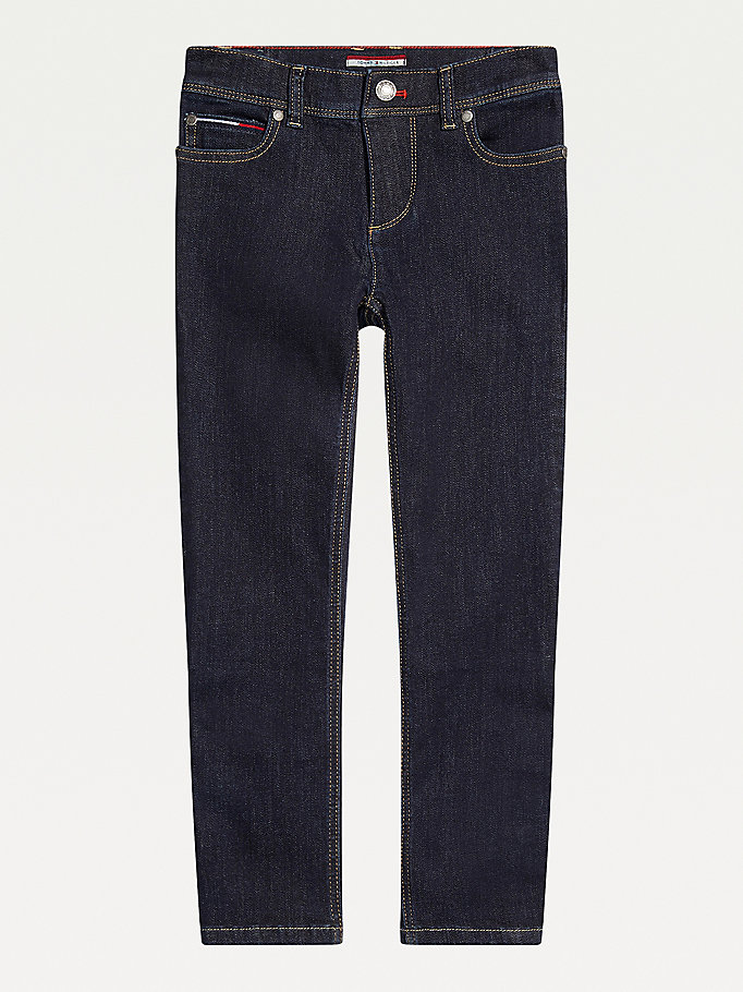 blue adaptive slim straight jeans for boys tommy hilfiger