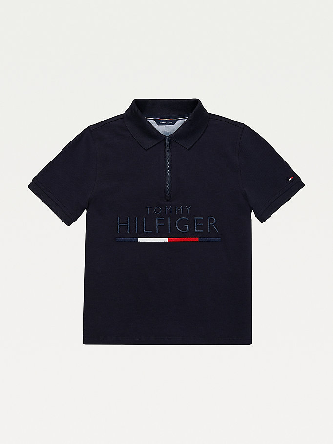 blue adaptive pure cotton polo for boys tommy hilfiger