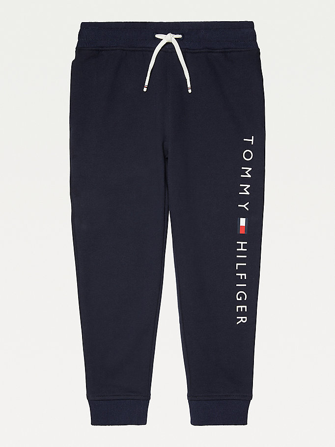 blue adaptive joggers for boys tommy hilfiger