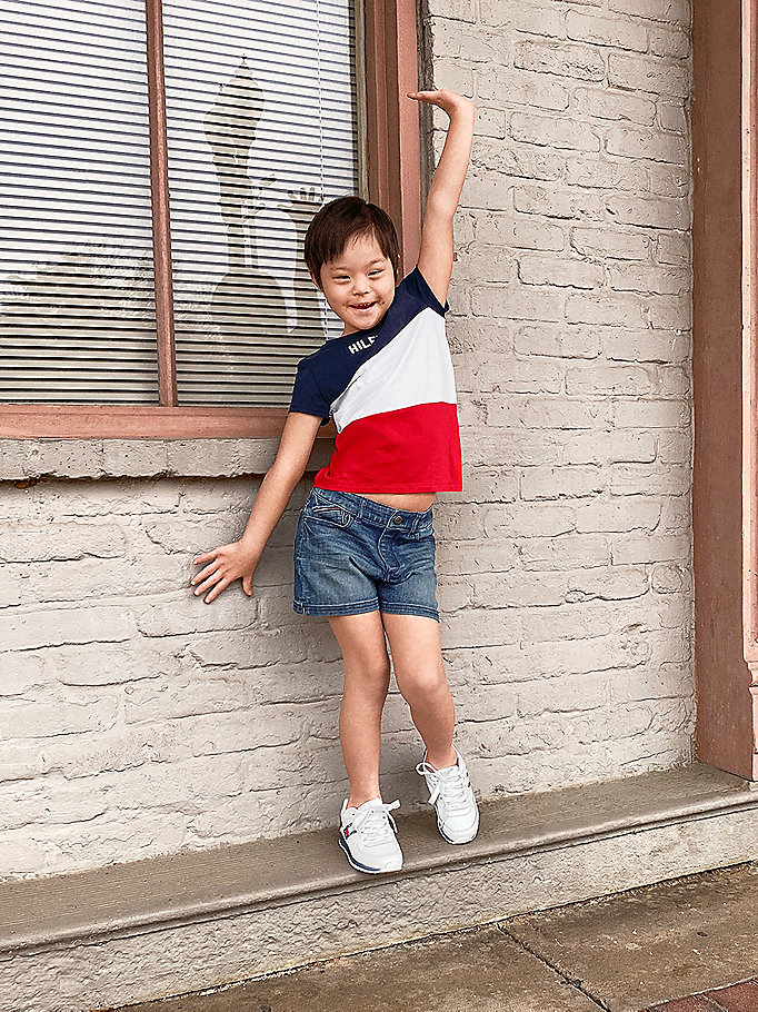 multi adaptive color block-t-shirt für girls - tommy hilfiger